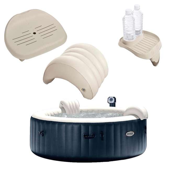28409E + 28501E + 28500E + 28502E Intex PureSpa 6-Person Hot Tub with Seat and Accessories