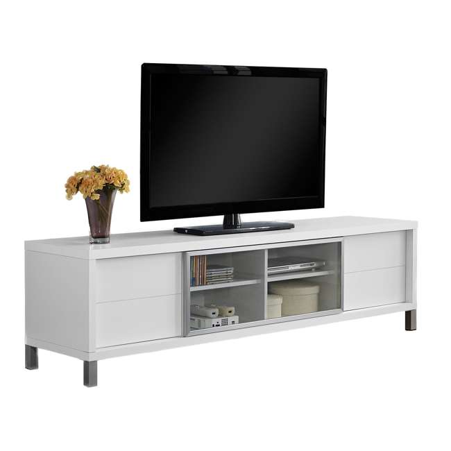 VM-2537 Monarch Specialties 70 Inch European Style Television Stand Media Center, White