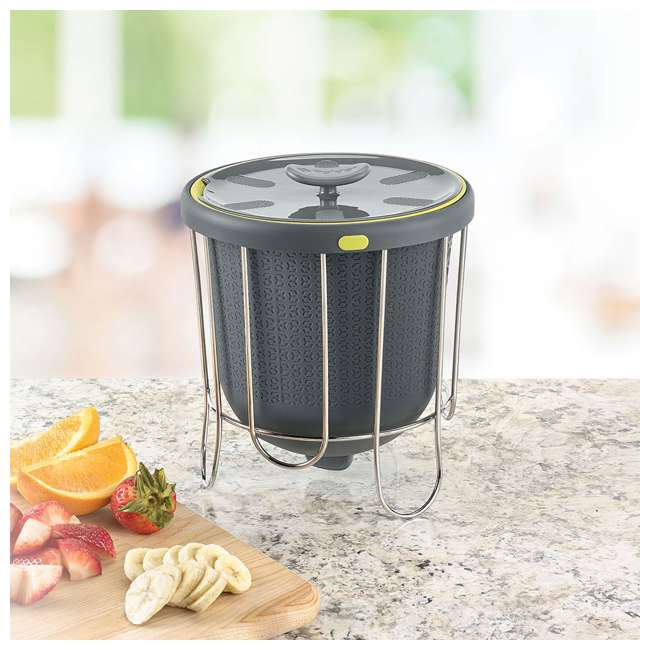 KTH-1415-425 Polder Indoor Portable Kitchen Composter with Stand, Gray (2 Pack) 8
