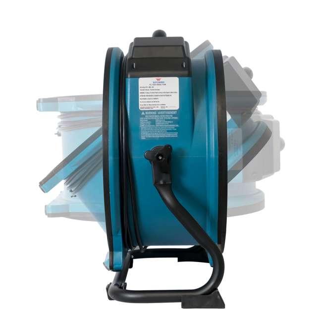 FC-420 XPOWER FC-420 Pro Air 18 Inch 3600 CFM 360 Degree Rotation Utility Fan, Blue 7