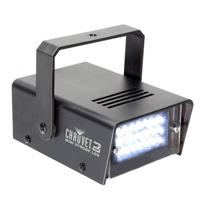 HURRICANE-HAZE2D + FJU + MINISTROBE-LED + BLACK-48 CHAUVET Fog Machine w/ Mini Strobe Light Effect, Black Light & Fog Fluid 2