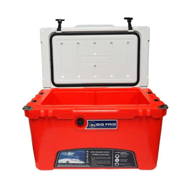 BFDB45-RW Big Frig 45 Quart 64 Can Denali Cooler, Red/White 3
