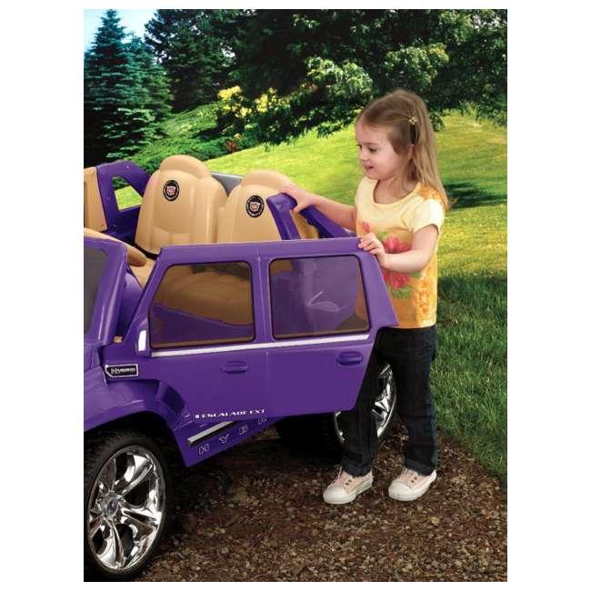 X3419 Power Wheels Cadillac Escalade 12V Electric Ride-On - Purple | X3419 2