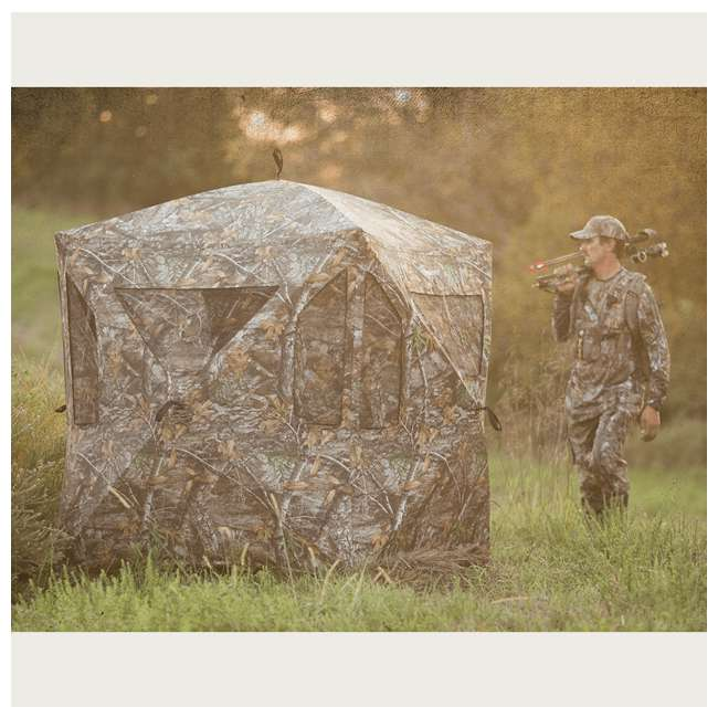 AMEBL3013 Ameristep AMEBL3013 3 Person Brickhouse Ground Hunting Blind, Mossy Oak Camo 2