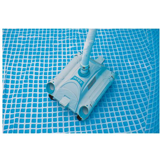 "P4A01848B167 + 28001E Summer Waves Elite 18' x 48"" Above Ground Frame Pool Set + Intex Automatic Above Ground Pool Vacuum  1"