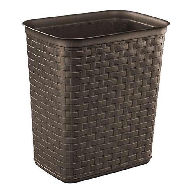 10346P06 Sterilite Weave 3.4 Gallon Plastic Home/Office Wastebasket Trash Can (6 Pack)