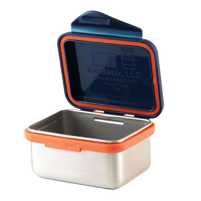 796515002881 + 796515002850 + 796515002768 Kid Basix Safe Snacker 23oz Stainless Steel Lunch Box + 13oz and 7oz Containers 7