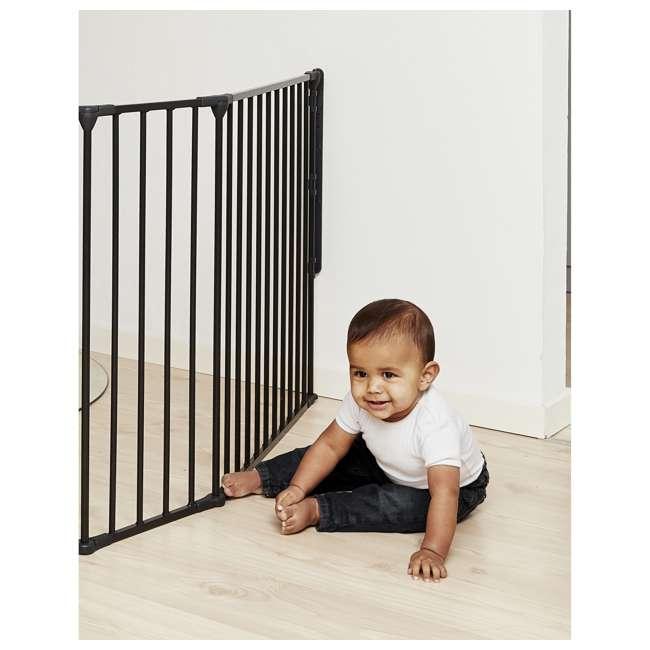 "BBD-56816-10600 BabyDan Flex Hearth 35.4-109.5"" XL Size Safety Baby Gate for Fireplace, Black 3"
