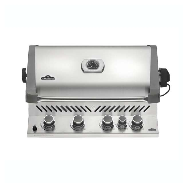 BIP500RBNSS-2 Napoleon 31'' Prestige 500 Built In Stainless Steel 4 Burner Gas Grill Head (2 Pack) 1
