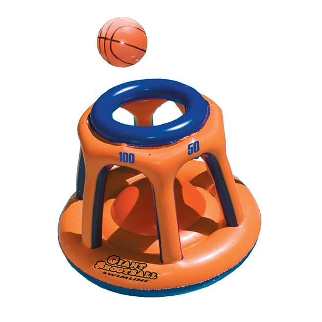90465 + 90285 Swimline Pool Chair Float(2 Pack) w/ Swimline Shootball Inflatable Pool Toy 2