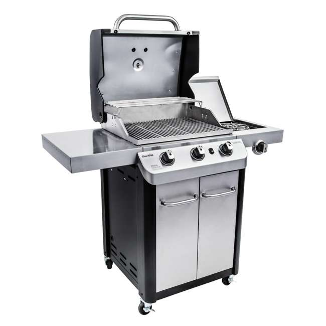 463372017-U-C Char Broil 3 Burner Stainless Steel 425 Square In Propane Gas Grill (For Parts) 1