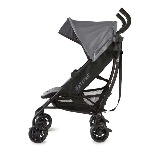 32753 Summer Infant 3DlitePlus Convenience One-Hand Adjustable Stroller Matte Gray 3