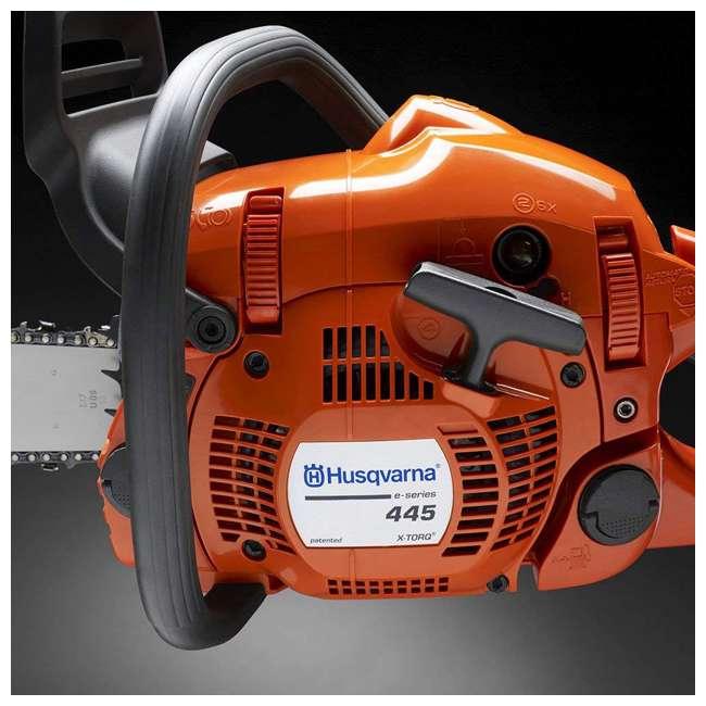HV-CS-967651003 Husqvarna 445E E-Series 18-Inch 50.2cc Gas X-Torq Chainsaw (2 Pack) 4