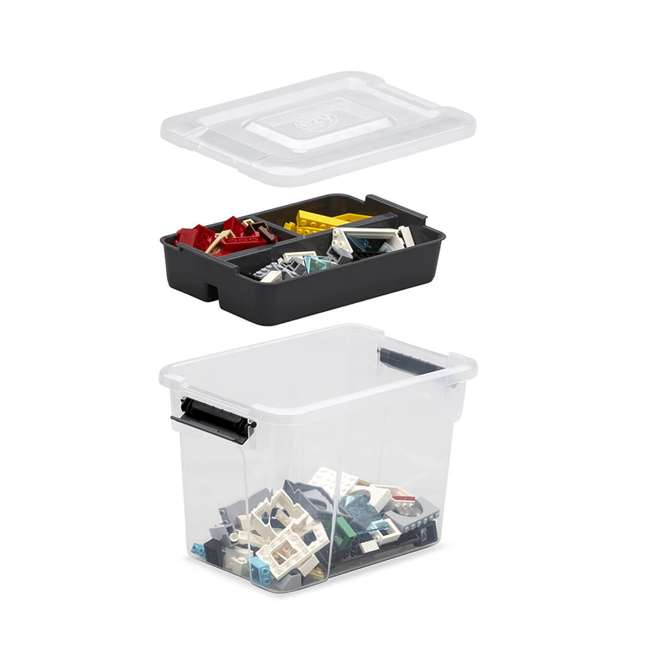 12 x FBA32235 Ezy Storage Sort It 3 Liter Container Box Bin with Removable Tray (12 Pack) 3
