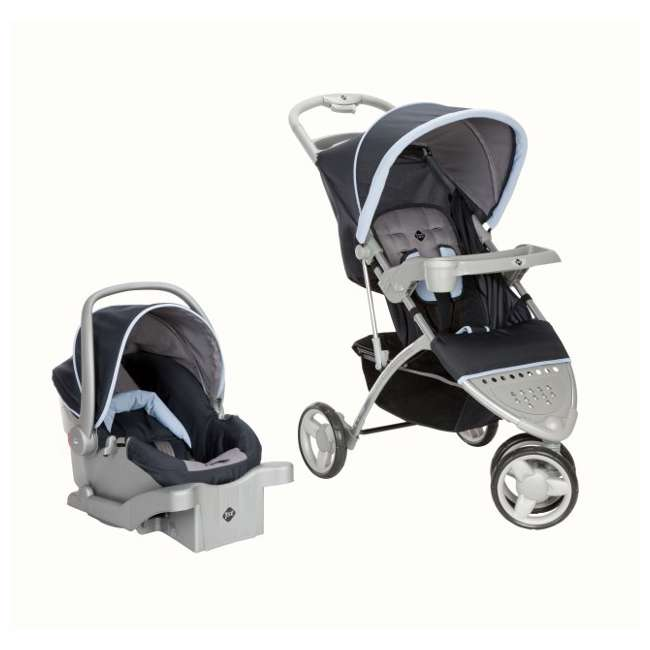 safety 1st 3 ease wheel baby stroller u0026 car seat travel set midnight tr215mdn