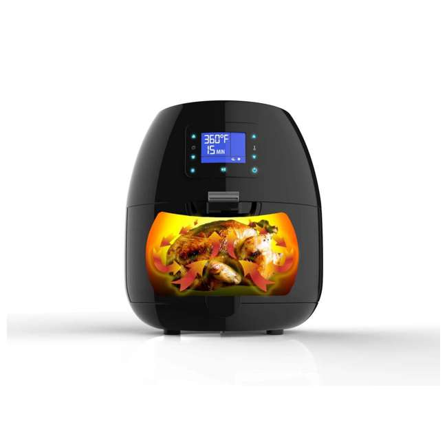 AB-AIRFRYER230B Avalon Bay Air Fryer Digital Display Stainless Steel Healthy Kitchen Appliance 1