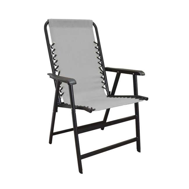 CVAN80012000122-2PK Caravan Canopy Infinity Suspension Folding Chair, Gray (2 Pack) 1