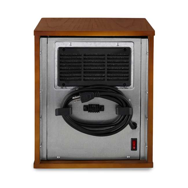 LIM-19-100004 Limina Portable Electric 1500W Infrared Quartz Cabinet Space Heater, Dark Walnut 6