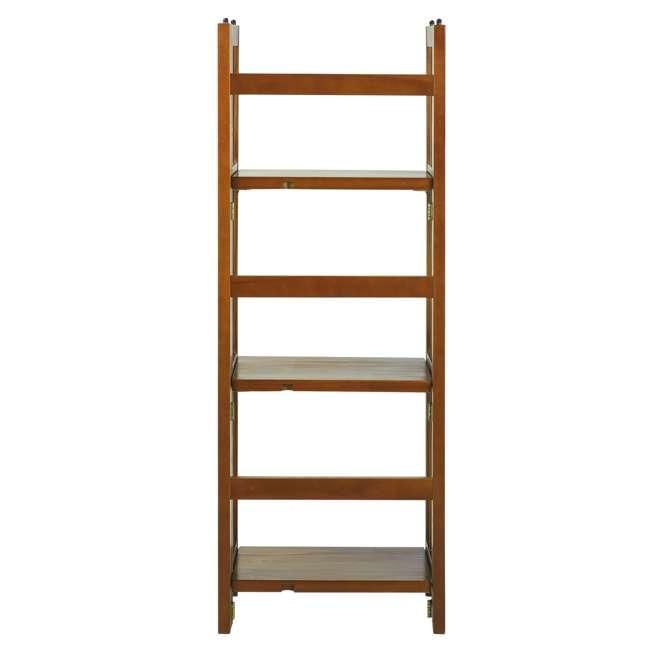331-35 Casual Home 3 Shelf 14 Inch Folding Office Wood Furniture Bookcase, Honey Oak 1