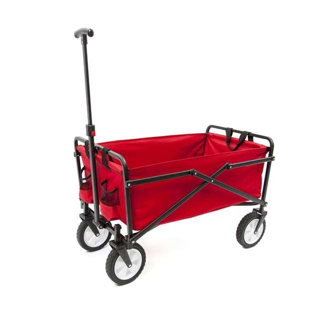 SUW-200-RED-U-A Seina Compact Folding Outdoor Utility Cart (Open Box) (2 Pack) 3