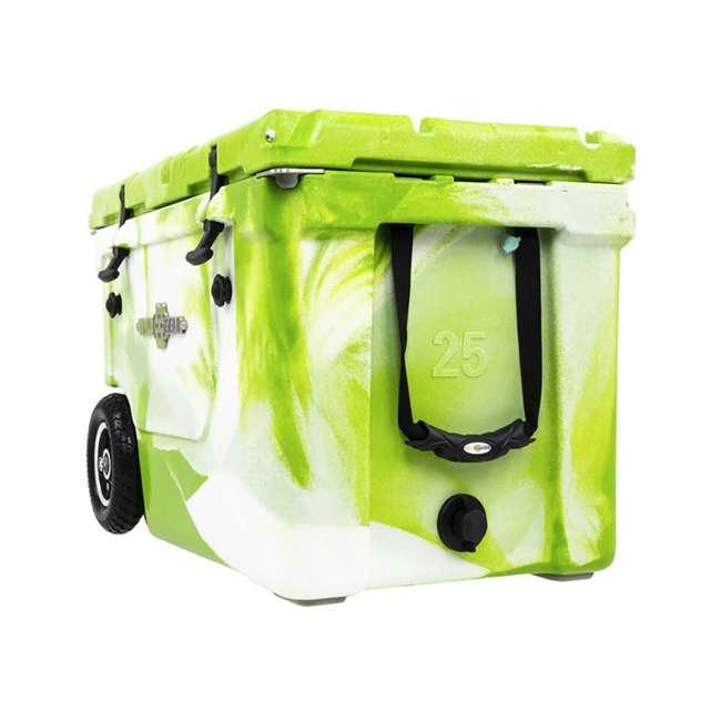 HC50-17GW WYLD HC50-17GW 50 Qt. Dual Compartment Insulated Cooler w/ Wheels, Green/White 4
