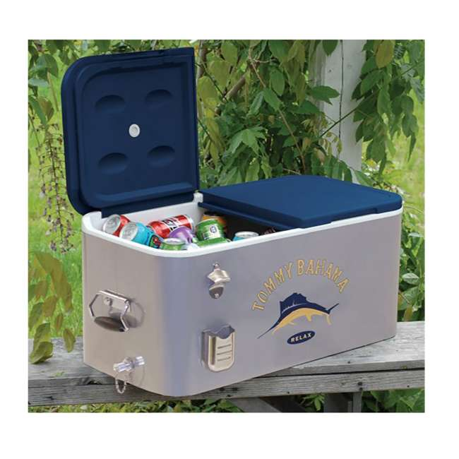 4 x RIORC109TB-61 Tommy Bahama The Entertainer 77 Quart Portable Cooler (4 Pack) 3