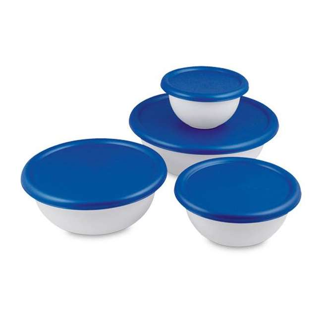 6 x 07479406-U-A Sterilite 8-Piece Plastic Kitchen Covered Bowl/Mixing Set (Open Box) (6 Pack) 4