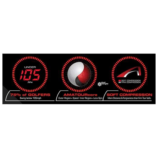 GDYX6D Bridgestone Tour B330-RX AMATOURcore Speed & Distance Yellow Golf Balls, 2 Dozen 3