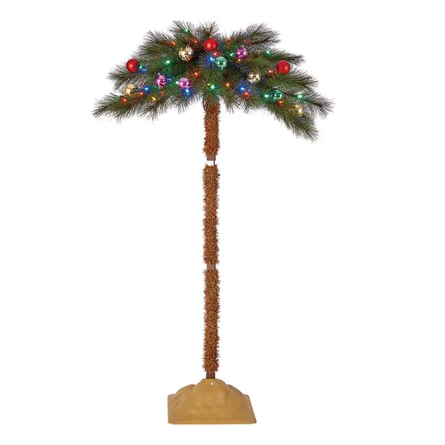 TG50ON041P03 Home Heritage 5 Foot Christmas Fake Palm Tree Prelit with Multi Color LED Lights 3