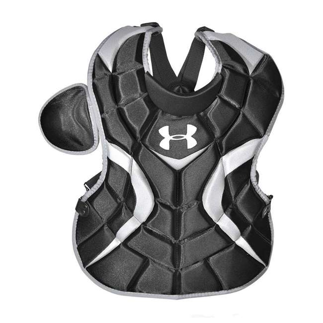UACKCC2-YVS-BK-U-C Under Armour Youth Baseball Catching Equipment, Age 7 to 9 (Black) (For Parts) 1