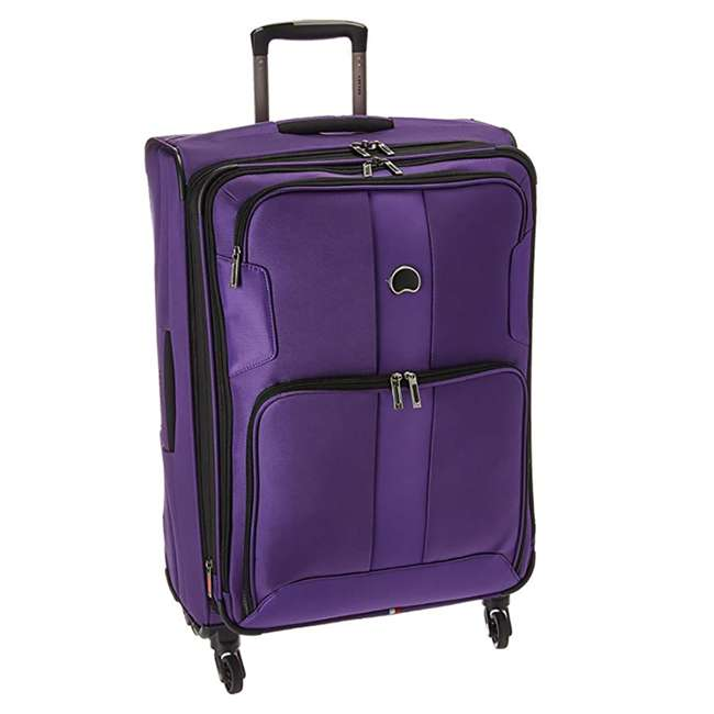 """40328282008 DELSEY Paris Sky Max 25"""" Expandable Spinner Softside Travel Luggage Case, Purple"""