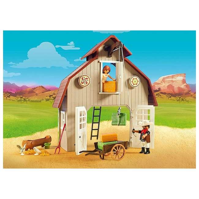 70118 Playmobil 70118 Barn with DreamWorks Lucky, Pru & Abigail Spirit Riding Play Set 4