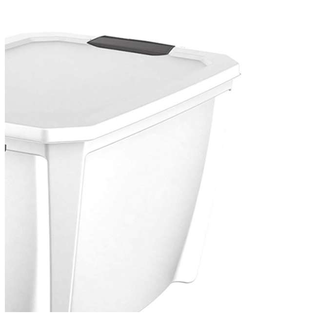 T20GLWT-U-A Life Story White Stackable Latching Storage Box Container, 20 Gal (Open Box) 1