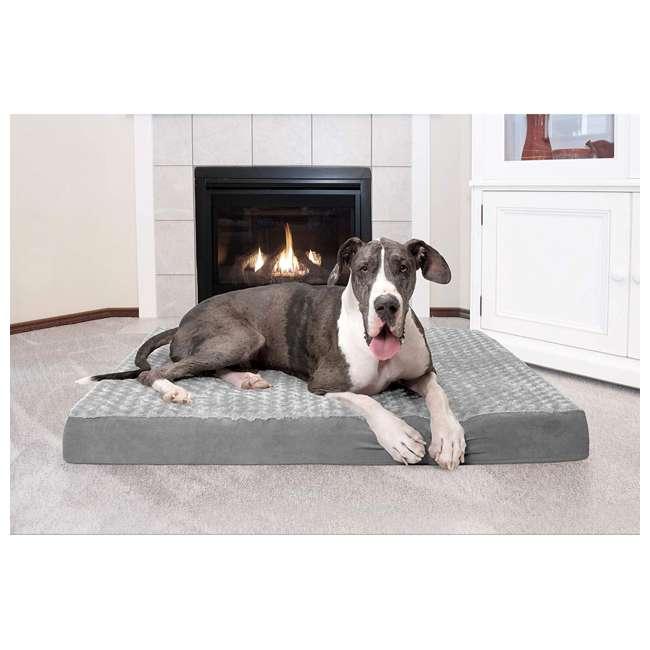 32635087 Furhaven 32635087 Jumbo Plus Ultra Plush Top Deluxe Mattress Pet Dog Bed, Gray 2