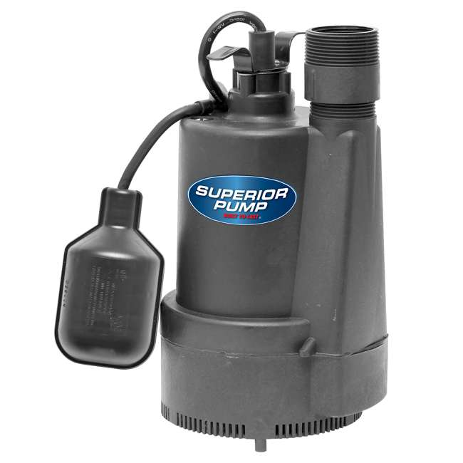 SUP-91330-U-C Superior Pump 1/3 HP Utility Pump With Garden Hose Adapter (For Parts) 1