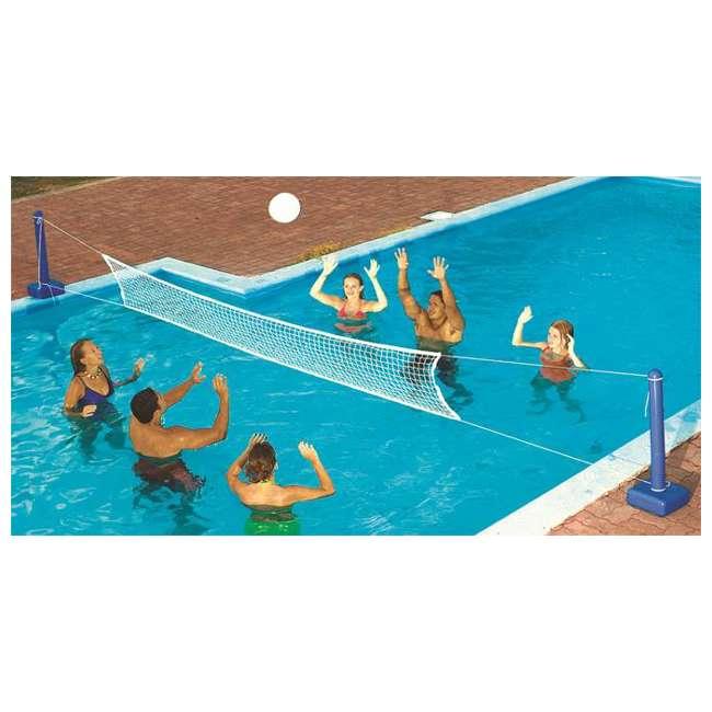 9186-U-A Swimline Cross Inground Swimming Pool Fun Volleyball Net Game (Open Box) (2 Pack)
