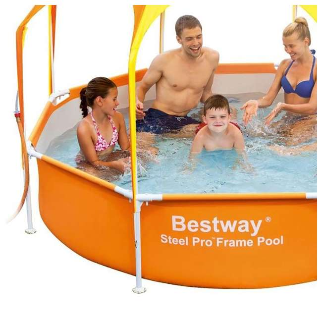 "56543-BW-U-A Bestway  8' x 20"" Splash Shade Kids' Spray Pool with Canopy  (Open Box) (2 Pack) 3"