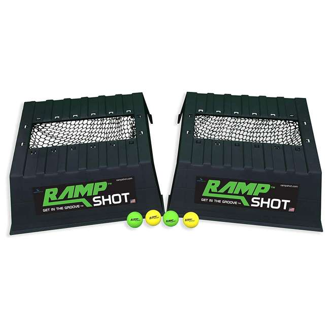 777 RampShot Cornhole Family Game Set w/ 2 Ramps, 4 Balls, 2 Nets and Instructions