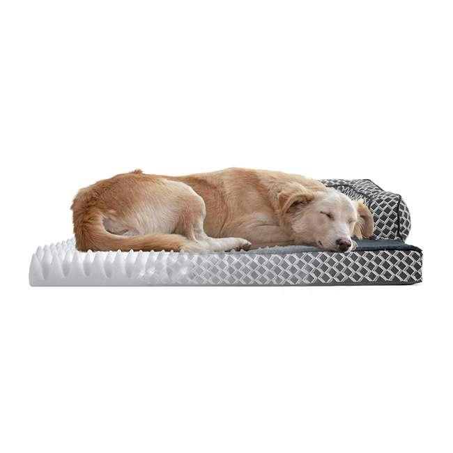 46536257BX Furhaven 46536257BX Jumbo Plush Faux Fur Orthopedic Sofa Pet Bed, Diamond Gray 3