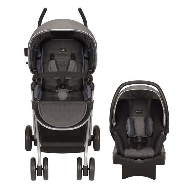 56232216 Evenflo 56232216 Sibby Travel System, LiteMax 35 Infant Car Seat, Highline Gray  1