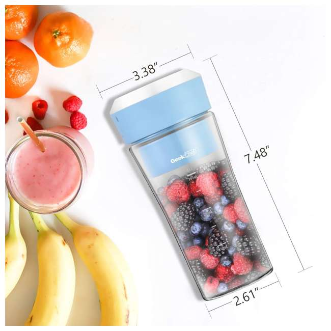 GPB30 + GSC36 Geek Chef 10Oz Portable Cordless Rechargeable Blender & Electric Juice Extractor 2