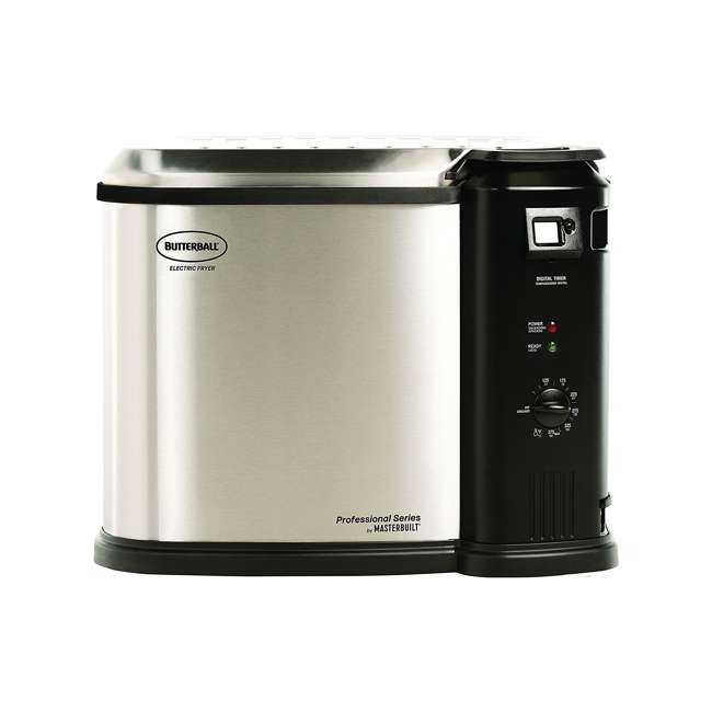 BB-MB23010618 Masterbuilt Butterball XL Electric Turkey Fryer, Stainless Steel