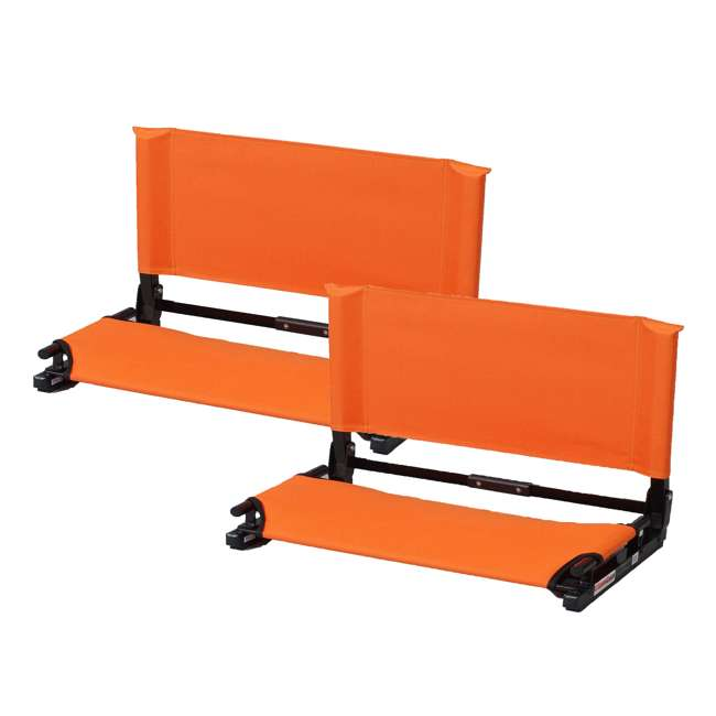 WSC2-ORNG Stadium Chair Deluxe Game Changer Folding Seat, Orange (2 Pack)
