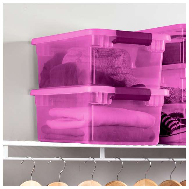 36 x 17535412 Sterilite ClearView Latch 15 Quart Plastic Storage Container, Purple (36 Pack) 2