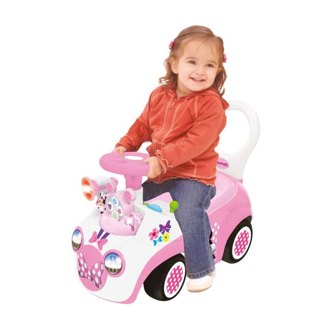 048280 Kiddieland Minnie Mouse Activity Gears Ride-On Car, Pink 4