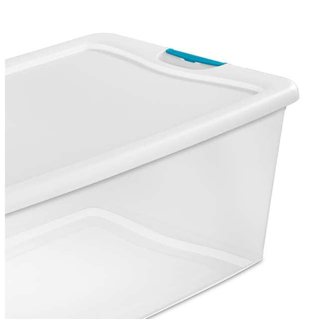 12 x 14928012 + 4 x 14998004 Sterilite 6 Qt Clear Storage Box Container 12 Pack and 106-Qt Storage Box 4 Pack 9
