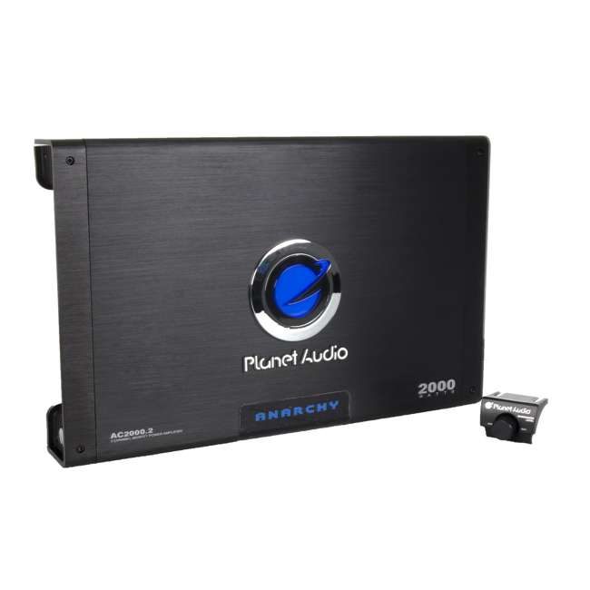 AC20002 Planet Audio AC2000.2 2000W 2-Ch Amplifier + Remote  (2 Pack) 1