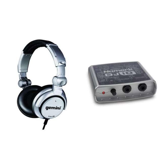 Numark DJ-iO USB Audio Interface DJ Sound Card + Gemini DJX-05 Headphones