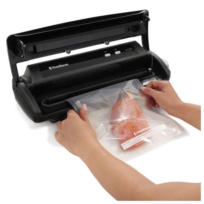 FSFSSL2244-000 FoodSaver v2244 Vacuum Sealing Food Sealer Saver System with Starter Kit, Black 2