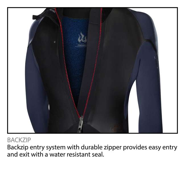 5040-B82-L Reactor 2 3/2 MM Thick Back Zip Full Wetsuit, Large 2